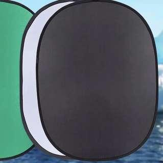 BNEW Backdrop Foldable 1.5m x 1m (black/white)