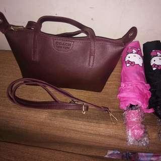 Brandnew Coach Bag and HK Automatic Umbrella