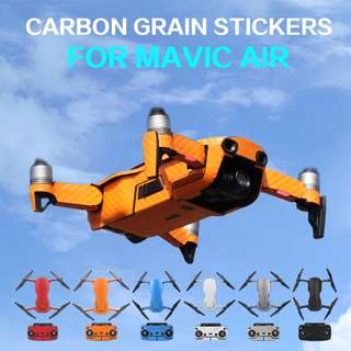 Sunnylife Waterproof PVC Carbon Grain Graphic Stickers Full Set Skin Decals for DJI MAVIC AIR Drone Accessories