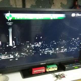 國產牌子RESUN32寸電視加普通DTMB機頂盒