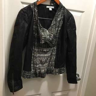 Trendy Charlie Jade vegan leather jacket M - super unique!