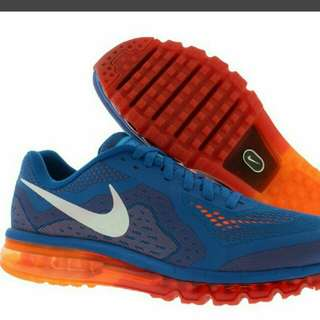 Nike Air Max 2014 Blue White Total Orange Crimson