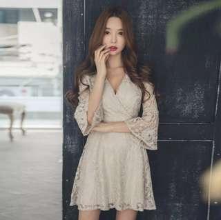 <Open PO>: Korean style romantic lace dress