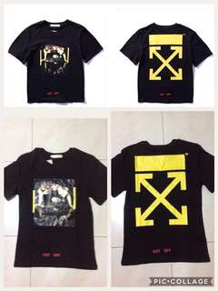 (BN) Off White T shirt (Black/Yellow)