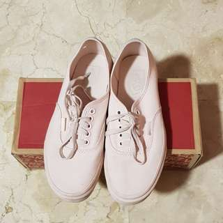 100% ORI Vans Aunthentic canvas mono peach blush
