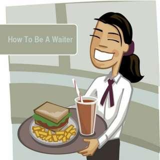 Waiter waitress pelayan