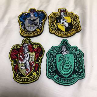 HARRY POTTER patches Velcro with backing