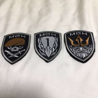 Medal Of Honour patches velcro with backing