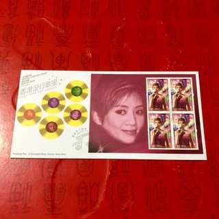 香港歌星-梅艷芳郵票首日封