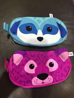 Smiggle Pencil Case flat face safari