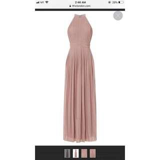 TFNC london serene mauve maxi/bridesmaid dress