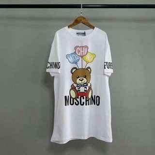 Moschino小熊系列中長款短袖T恤衫