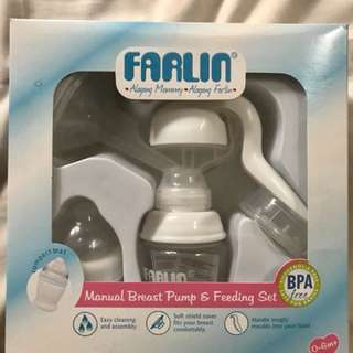 Farlin Manual Breast Pump & Feeding Set