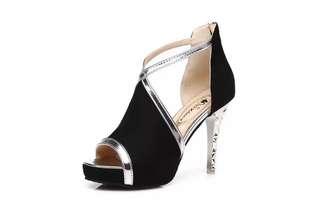 ♥️特價包郵♥️高跟鞋性感細跟魚嘴交叉綁帶女鞋(Size:34-39)
