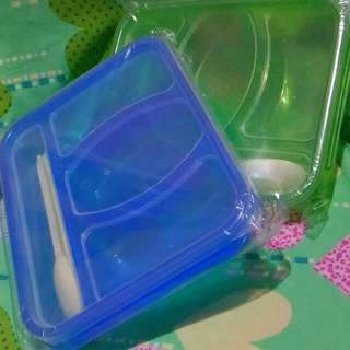 Bento Lunch Box w/ Spoon and Fork