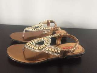 Bronze colored sandals