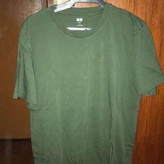 Green Classic Uniqlo Supima cotton