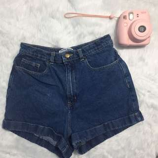 American Apparel Highwaist Denim Shorts