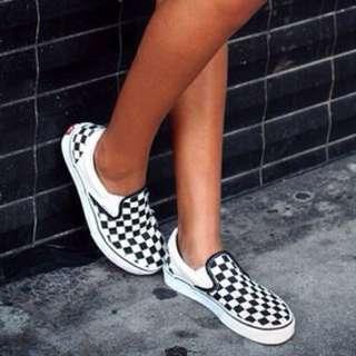Checkered Vans - Size 6