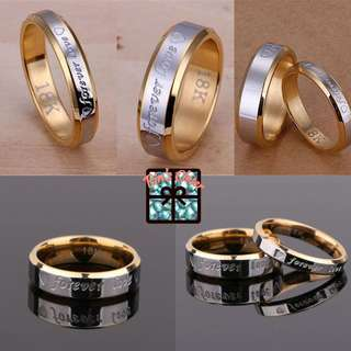 Couple/Women Love Engraved Rings