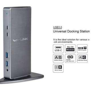 Wavlink USB3.0 Aluminum Universal Laptop Docking Station