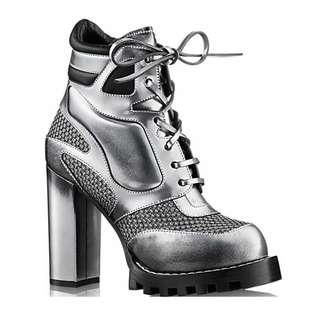 Louis Vuitton Digital Gate Ankle Boot 1A26KU Silver 2016