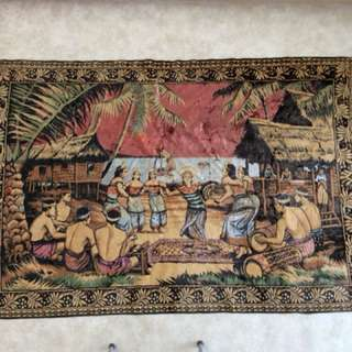 Large Old Malay Rug Not Use.