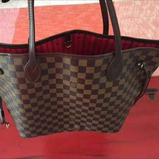 LV Neverfull MM Checkered Brown