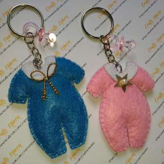 Baby's Coverall Keychain