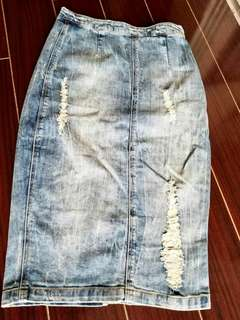 Zara demin pencil Skirt size 36/ Us4
