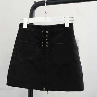 YESSTYLE Lace-Up Mini Skirt