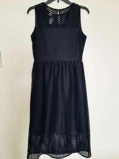 H&M Black Polyester lace Dress size 8