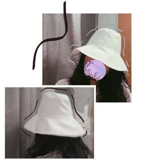 [BN] White Fisherman/Bucket Hat