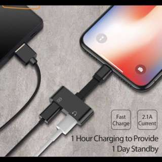 2-1 IPhone charger& headphone adapter ( plz read description)