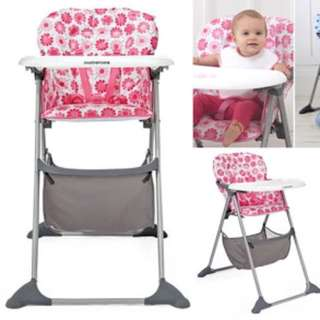 High chair mothercare original