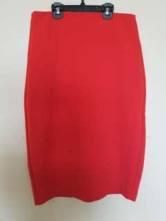 Forever 21 Orange pencil skirt size s