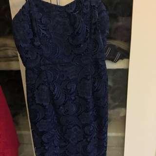the nona navy dress