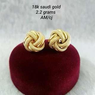 18K Saudi Gold Earings