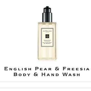 BN: Jo Malone english pear & freesia body & hand wash