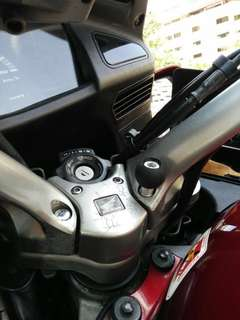 "Single ball adapter 1"" smnu mount on STX1300 Honda"