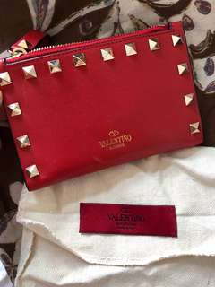 Valentino red card wallet
