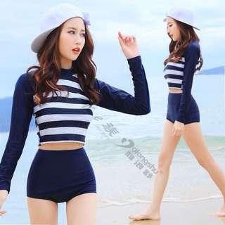 Longsleeve Highwaist swimwear