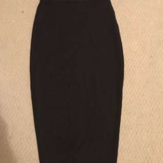 Bardot black midi skirt 6