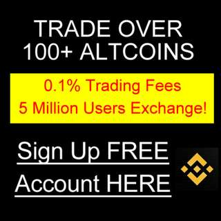 FREE Altcoin Bitcoin Trading Account Binance with 0.1% Trading Fee - 5 Million Users