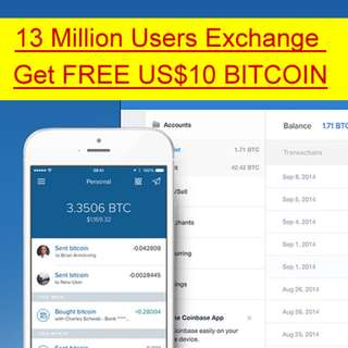 Buy Bitcoin Get FREE USD10 Using Coinbase Voucher - 13 Million Users
