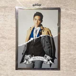 SHINee Boys Meet U Minho Official A5 Folder Japan Press.