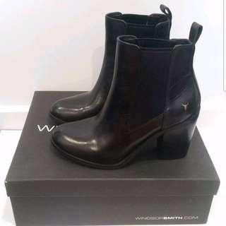 Windsor Smith Louey Black Leather Heel