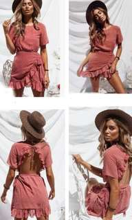 Beautiful Summer Backless Dress