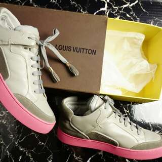 LV Pink Sole Sneakers Size 40 euro