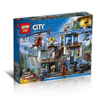 LEPIN 02097 City Mountain Police Headquater